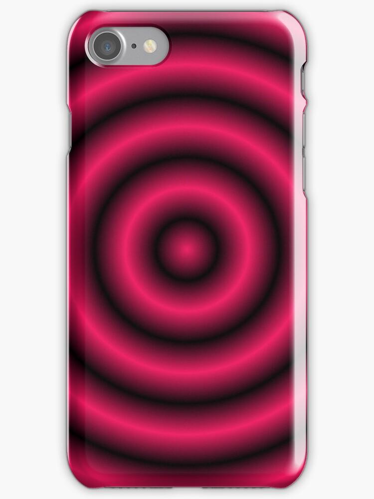 Shocking Pink 3D Hoops by Sookiesooker