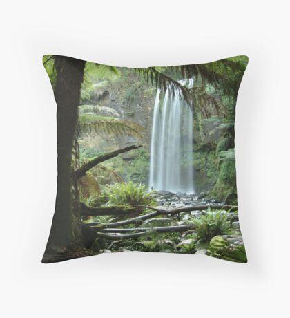 Hopetoun Falls, Otway Ranges forrest Throw Pillow