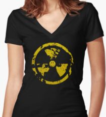 Nuclear smile : ) Women's Fitted V-Neck T-Shirt