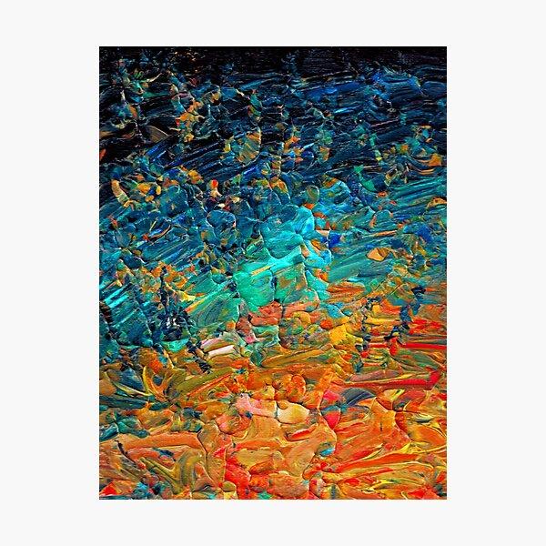 reich und strahlend! Dieses abstrakte Acryl-Ombre liegt voll im Trend Fotodruck
