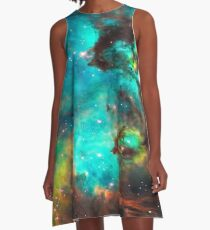 Galaxy / Seahorse / Large Magellanic Cloud / Tarantula Nebula A-Line Dress