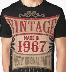 Vintage Made In 1967 Retro Birthday Gift T-Shirt Graphic T-Shirt