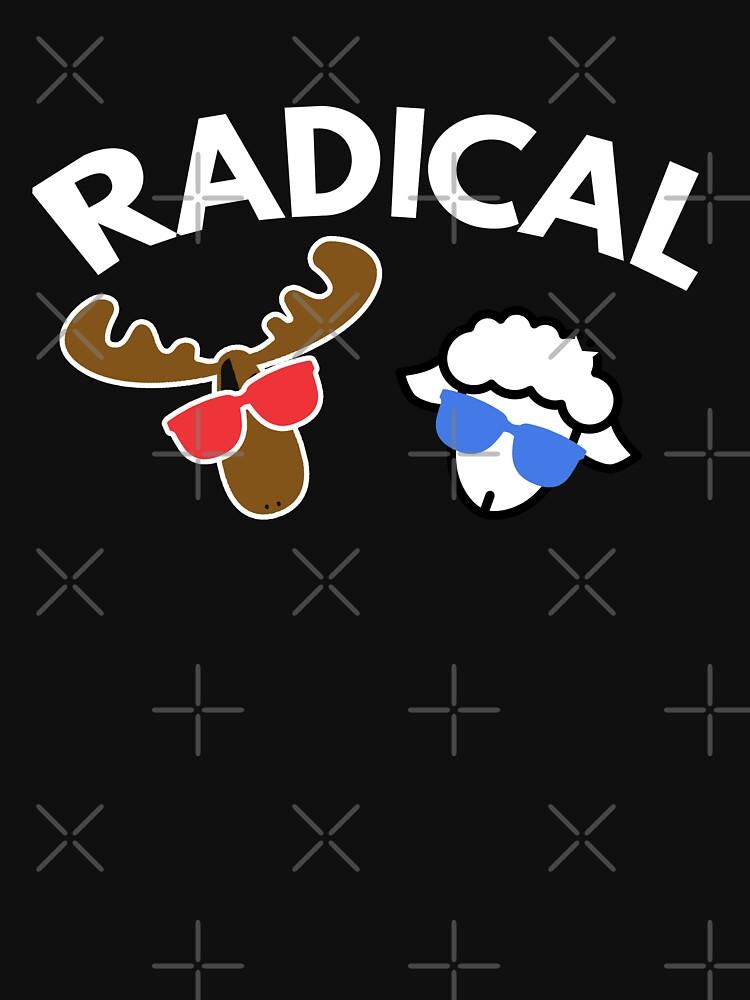 Radical  Moose Lamb T Shirt | Unisex T-Shirt