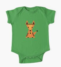 Little red fox, forest, cute, nature, animal, woodland, One Piece - Short Sleeve