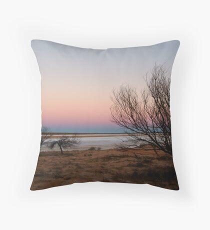 Salt Pan, Simpson Desert, S.A. Throw Pillow