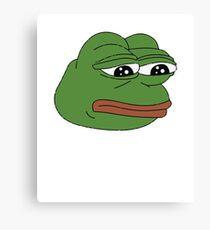 Frog meme Canvas Print