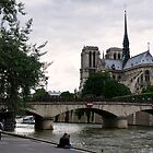By the banks of the Seine - Paris France by Norman Repacholi