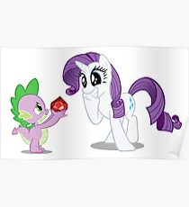 Rarity and Spike Poster