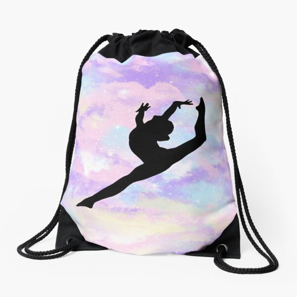 Gymnastics Leap Drawstring Bag