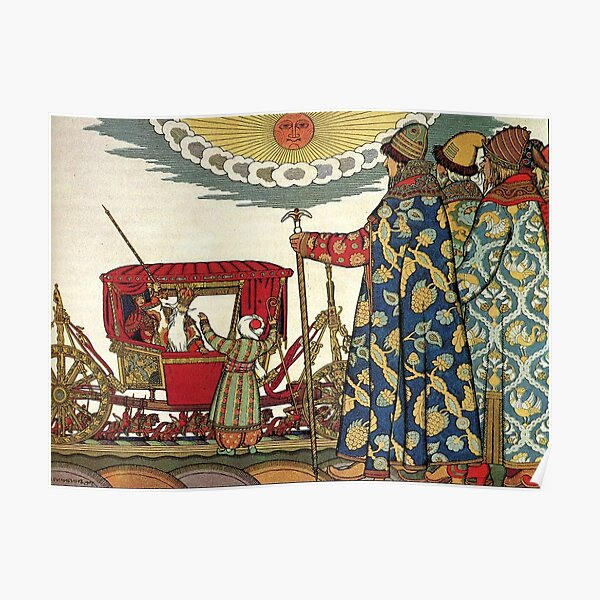 Ivan Bilibin Russian Folk Art Print The Barrel