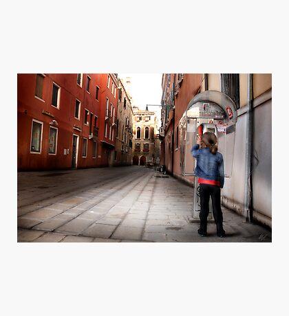 Venice Phone Call Photographic Print