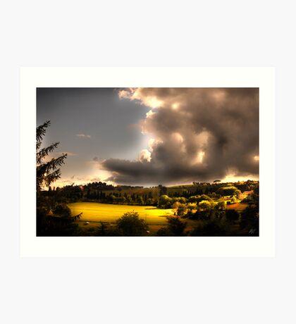 Umbria Hills Art Print