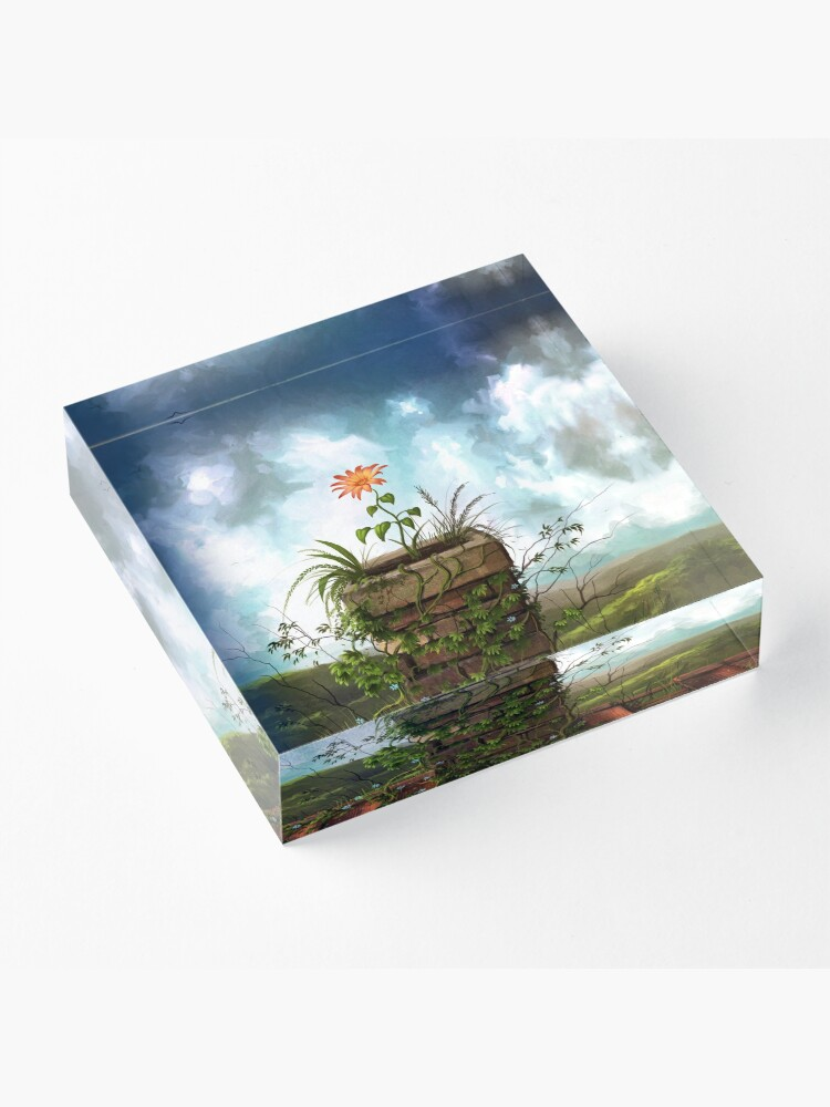 Alternate view of The Flowerpot Acrylic Block