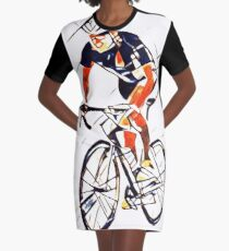 Cyclist Graphic T-Shirt Dress