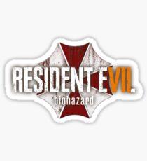 Resident Evil 7 Logo Sticker