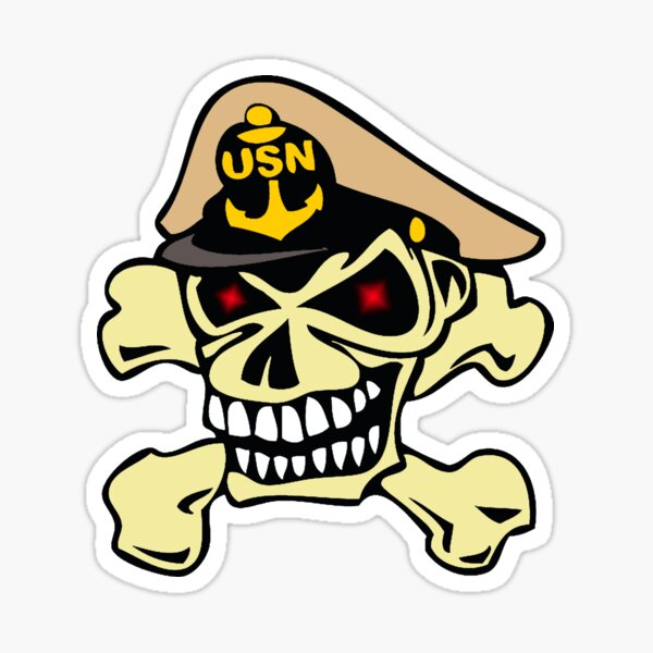 US Navy Chief Skull Sticker