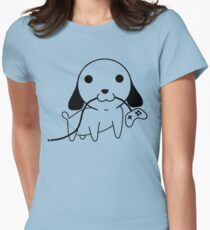 Gamepad Puppy Womens Fitted T-Shirt