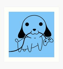 Gamepad Puppy Art Print