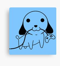 Gamepad Puppy Canvas Print