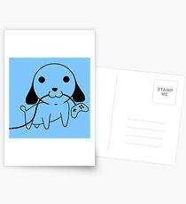 Gamepad Puppy Postcards