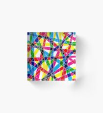 Fractured pattern Acrylic Block