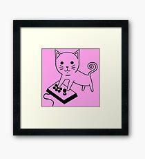 Arcade Kitten Framed Print