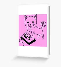 Arcade Kitten Greeting Card