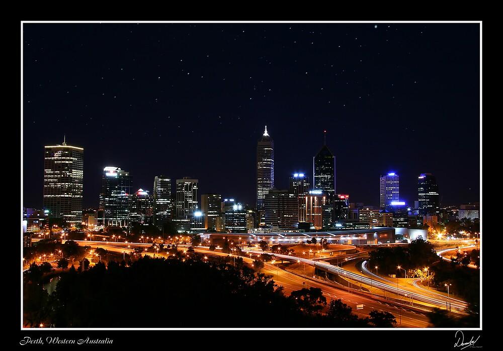 Perth at twillight by Darren Kwok