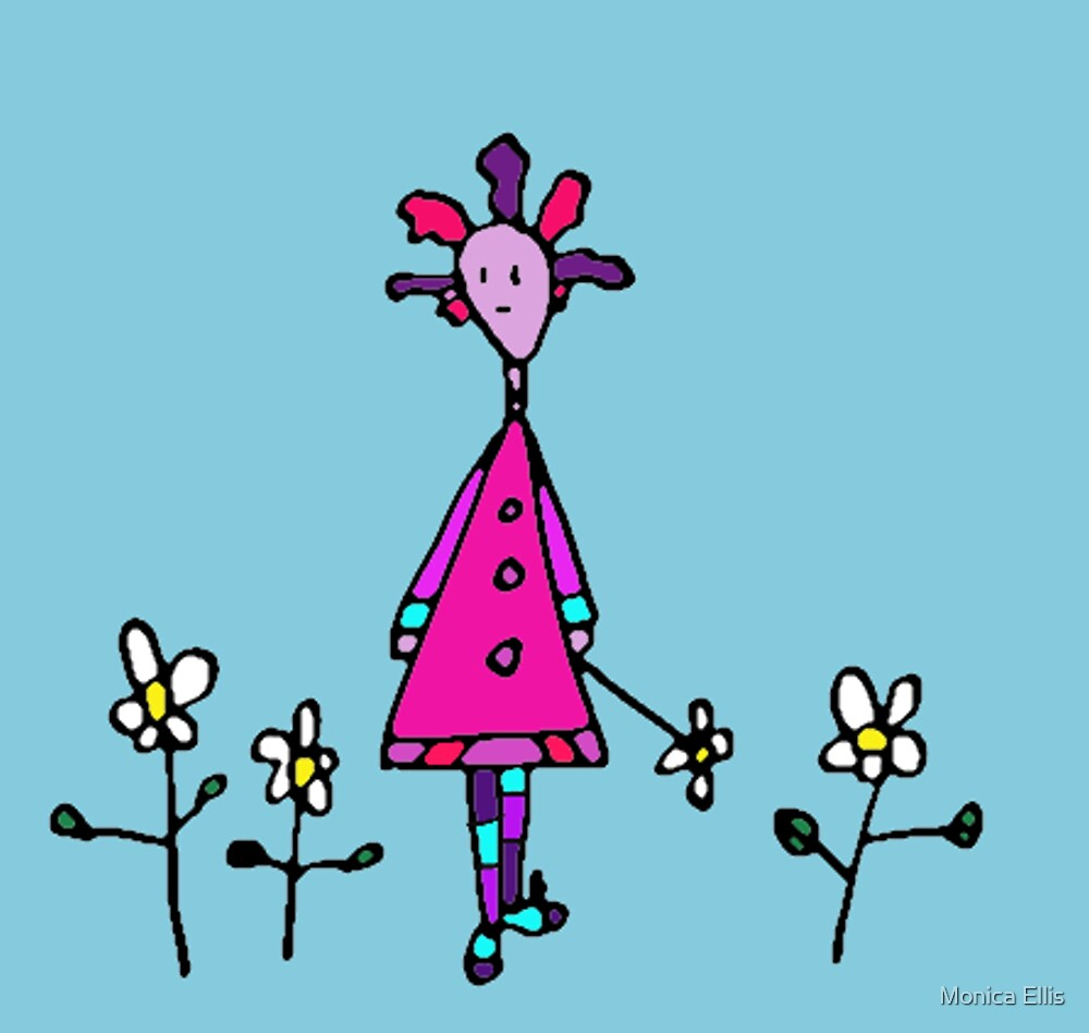 Silly Picked Flowers by Monica Ellis
