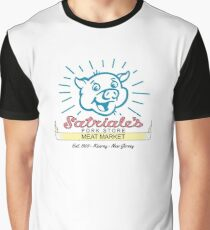 Satriale's -  Original Beige Piggy Logo Graphic T-Shirt