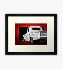 1956 Chevrolet Custom Stepside Pickup   Framed Print