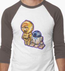"""DROID LOVE"" POOTERBELLIES Men's Baseball ¾ T-Shirt"