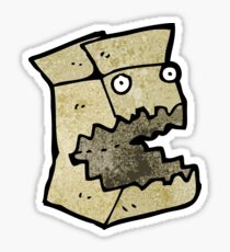 cardboard box cartoon character Sticker