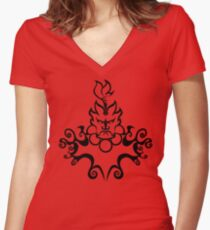 The Floating Demon Women's Fitted V-Neck T-Shirt