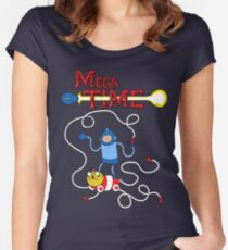 MEGA TIME! Women's Fitted Scoop T-Shirt