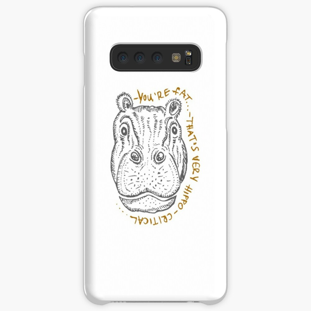 Hippopotamus Cartoon Sketch Case Skin For Samsung Galaxy By