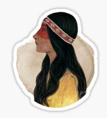 Native American Woman Sticker