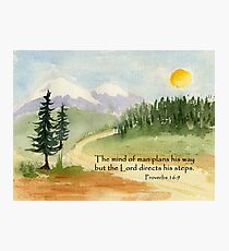 Guidance, Proverbs 16:9 Photographic Print