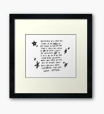 Living in the Stars Framed Print