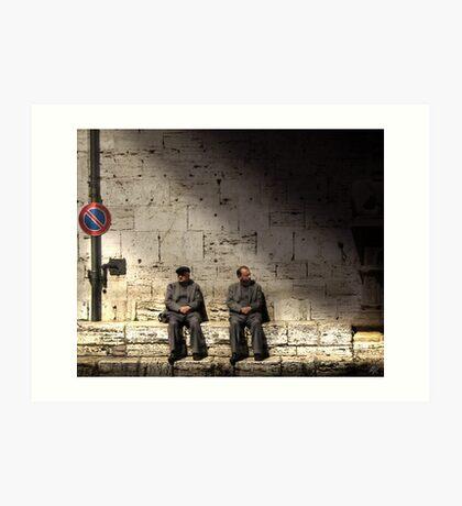 Men in Grey Art Print