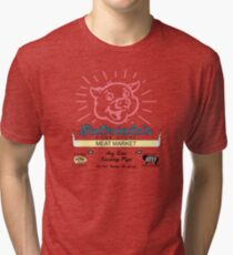 Satriale's -  Pork Store New Jersey Red Tri-blend T-Shirt