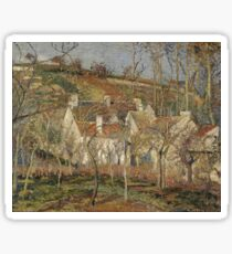 Camille Pissarro - Red Roofs, Corner Of A Village, Winter (1877) Sticker