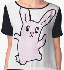 spooky bunny rabbit cartoon Women's Chiffon Top
