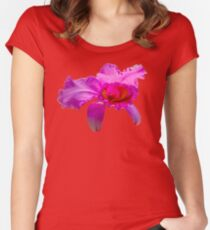 Beautiful Pink Orchid Flower Women's Fitted Scoop T-Shirt