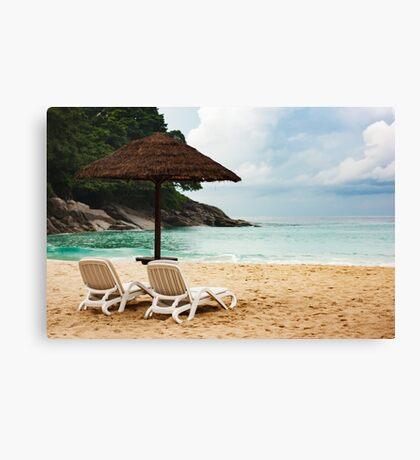 Summer vacation on sea coast  Canvas Print