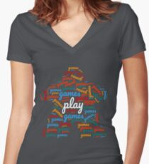Play All the Games! Board Game Geek Shirt Women's Fitted V-Neck T-Shirt