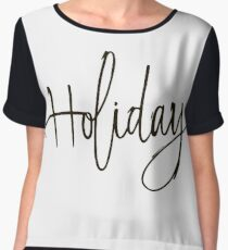 Holiday hand lettering  Chiffon Top