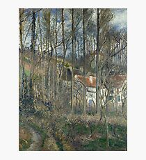 Camille Pissarro - The Boeufs Hill At Lhermitage Photographic Print