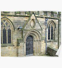 Ancient Door - Durham Cathedral Poster