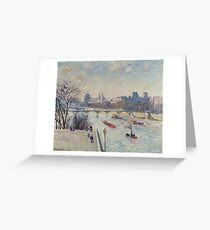 Camille Pissarro - The Louvre Greeting Card